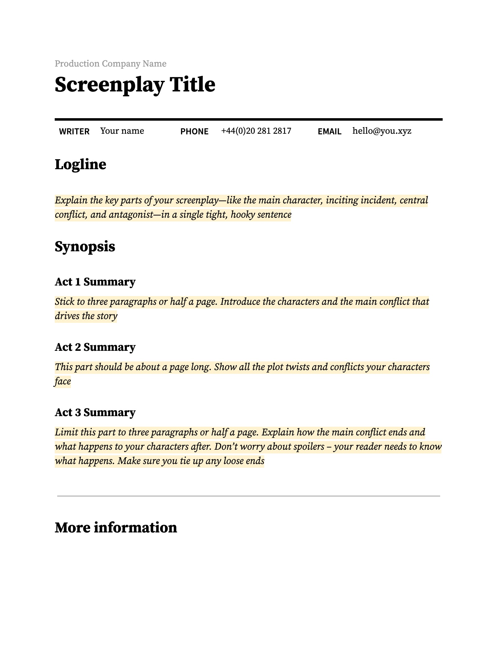 How to Write an Amazing Film Synopsis (Step-by-step Guide)  Boords
